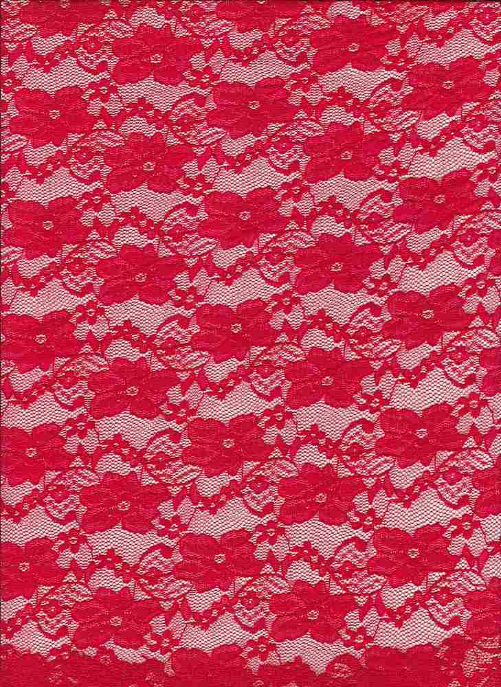 LACE-1104 / RED / 92% Nylon 8% Spn