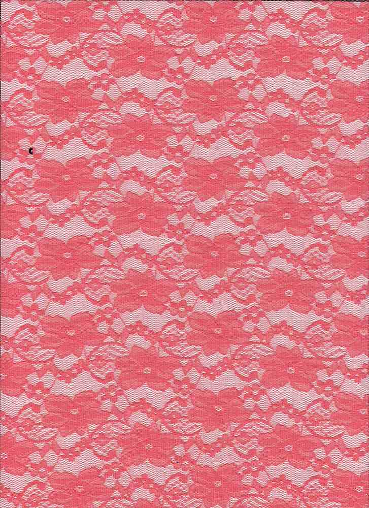 LACE-1104 / CORAL / 92% Nylon 8% Spn