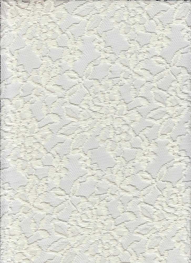 LACE-1130 / IVORY / 94% Nylon 6% Spandex