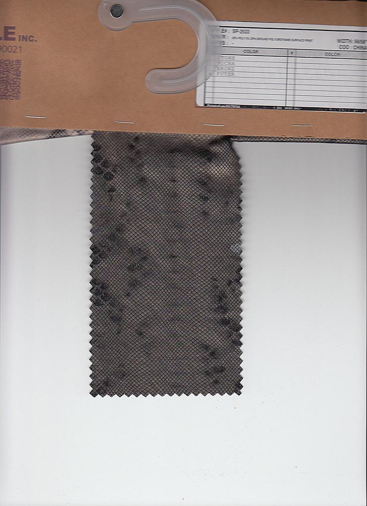 SP-2533 / BRONZ / 95% Poly 5% Spn Ground Polyurethane Surface Print