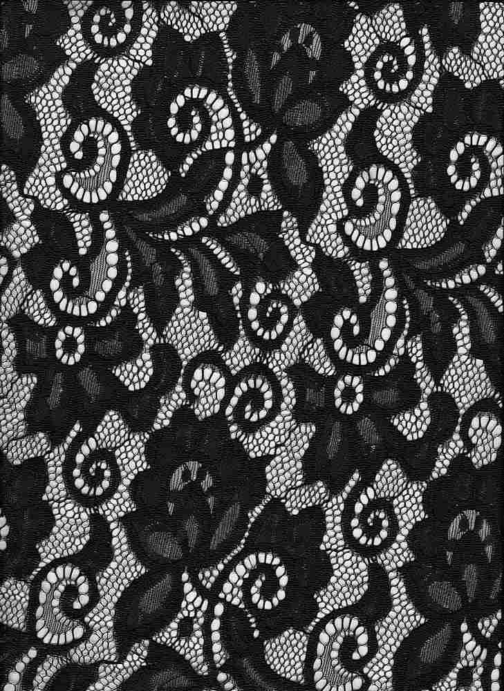 LACE-1138 / BLACK / 90% Nylon 10% Spn Heavy Lace