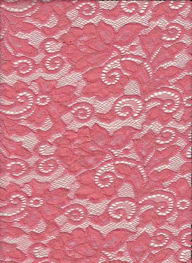 LACE-1138 / CORAL / 90% Nylon 10% Spn Heavy Lace