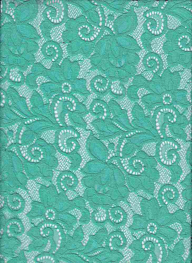 LACE-1138 / PISTACHIO / 90% Nylon 10% Spn Heavy Lace