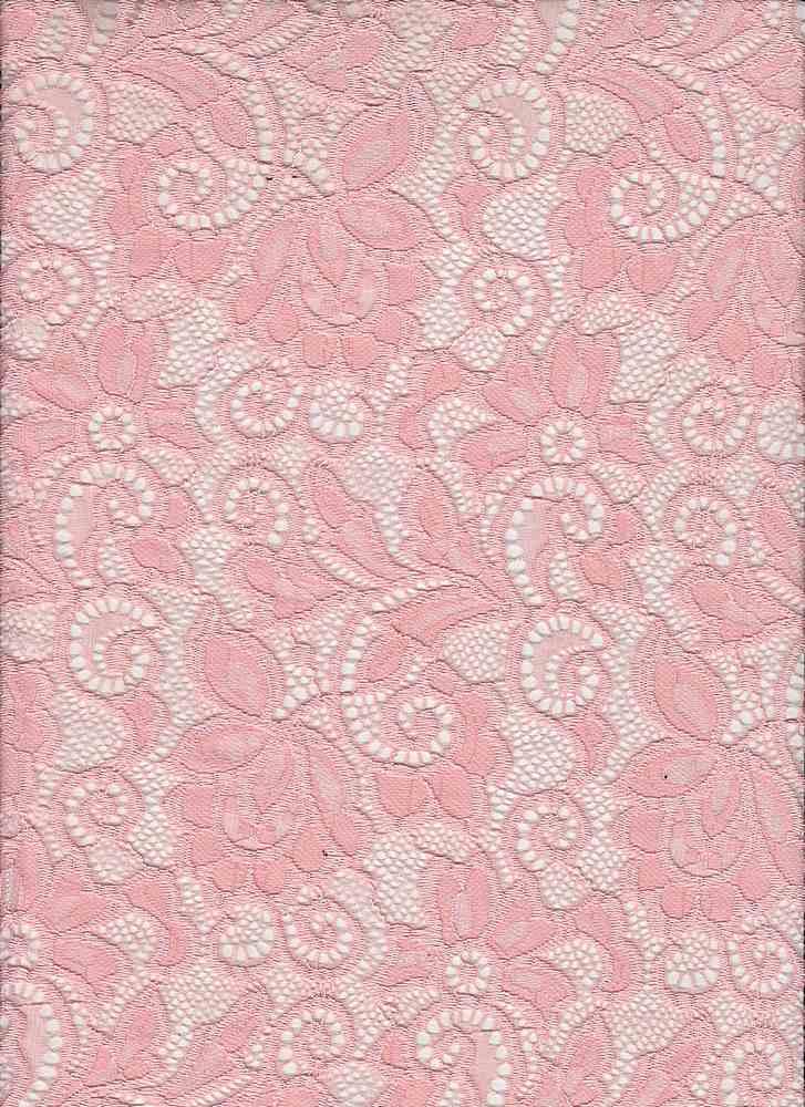 LACE-1138 / BLUSH / 90% Nylon 10% Spn Heavy Lace
