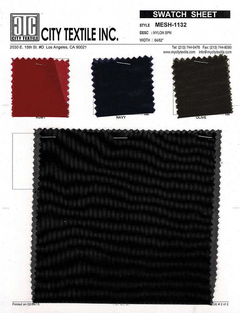 MESH-1132 / 02 CC / 95%Nylon 5%Spn Power Mesh