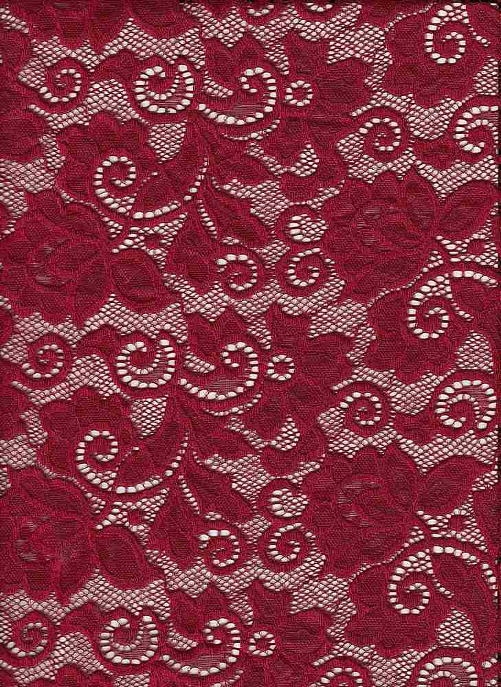 LACE-1138 / RUBY? / 90% Nylon 10% Spn Heavy Lace