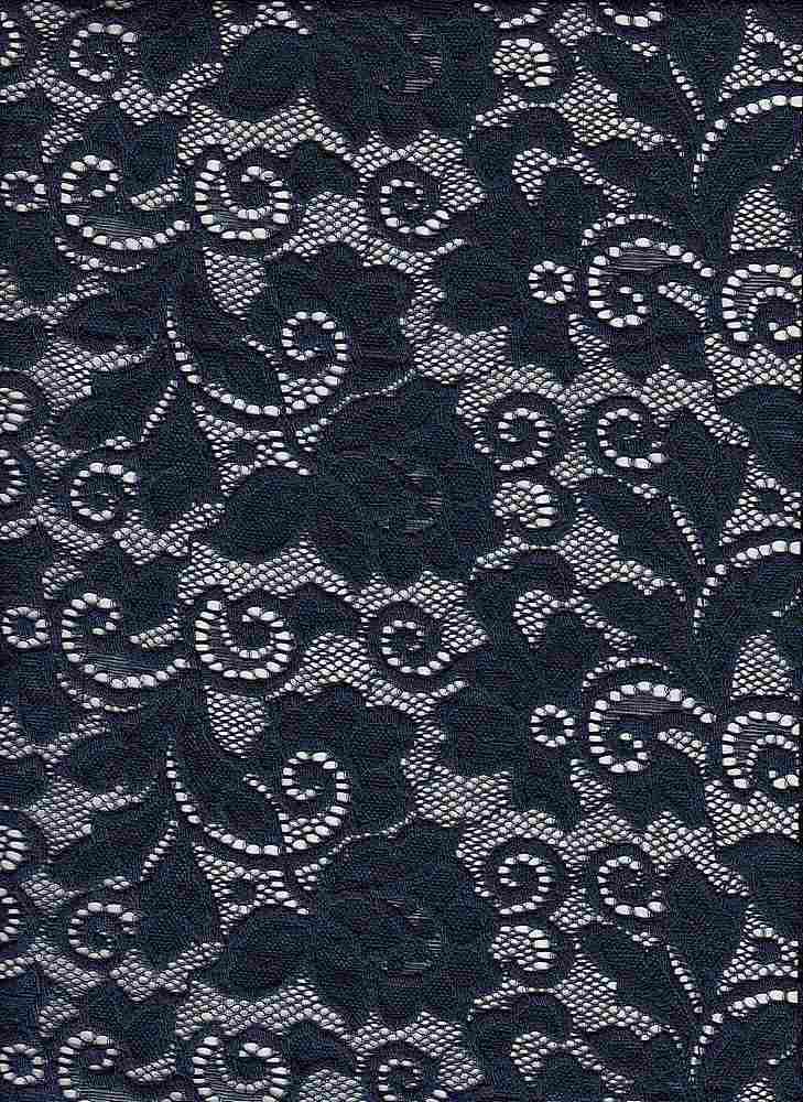 LACE-1138 / NAVY/INDIGO / 90% Nylon 10% Spn Heavy Lace