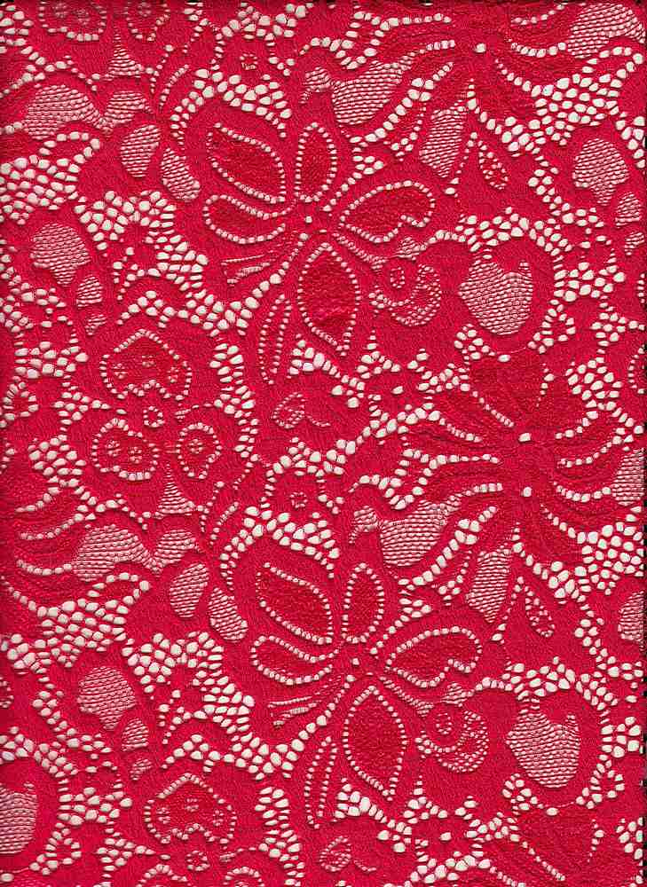 LACE-1141 / RED / 95% Nylon 5% Spn Jacquard Lace