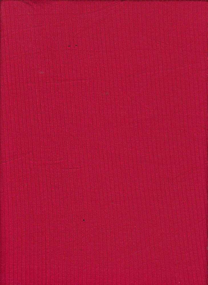 RIB-042 / RED / 95% Rayon 5% Spn Rib 4x2