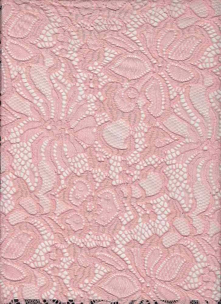 LACE-1141 / BLUSH / 95% Nylon 5% Spn Jacquard Lace