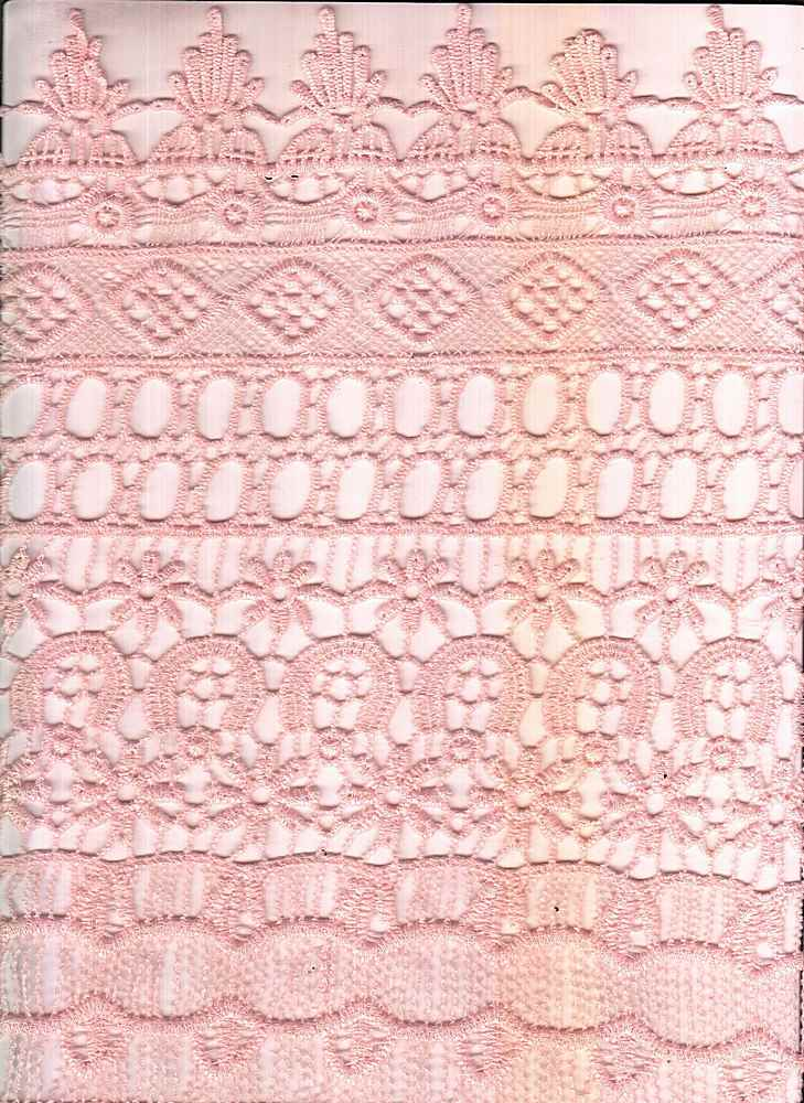 LACE-1142 / PEACH / 100% Poly Chemichal Crochet