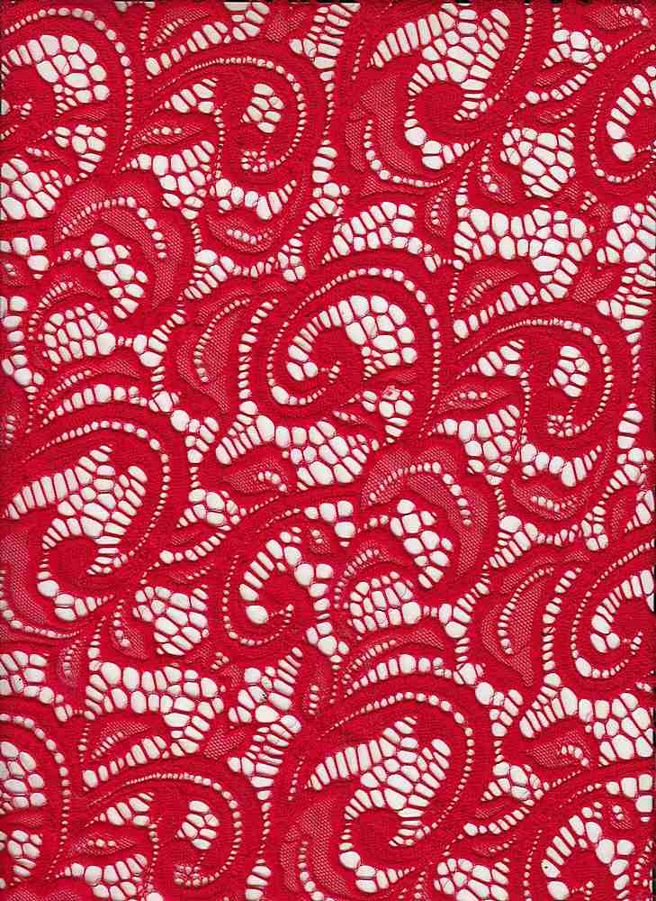 LACE-1144 / RED / 90% Nylon 10% Spn