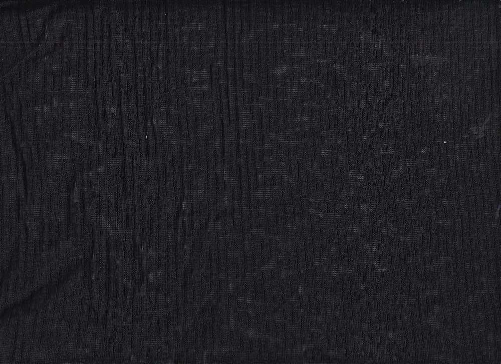 PR-1846 / BLACK / 53% Poly 43% Rayn 4% Spn 4x4 Rib Slub