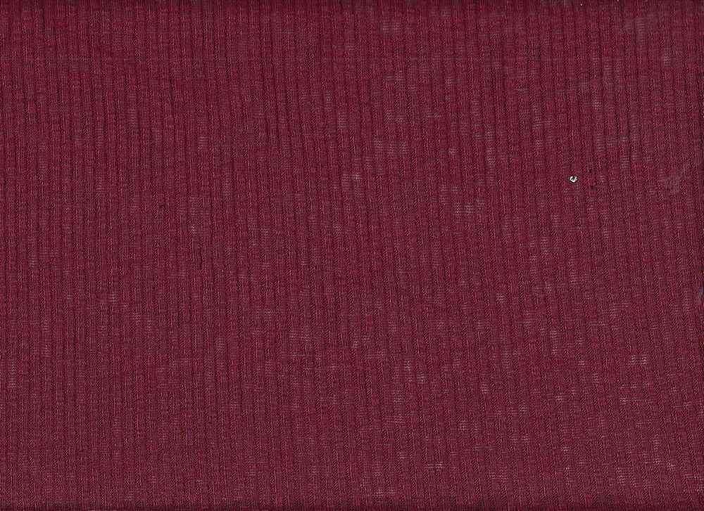 PR-1846 / GARNET / 53% Poly 43% Rayn 4% Spn 4x4 Rib Slub