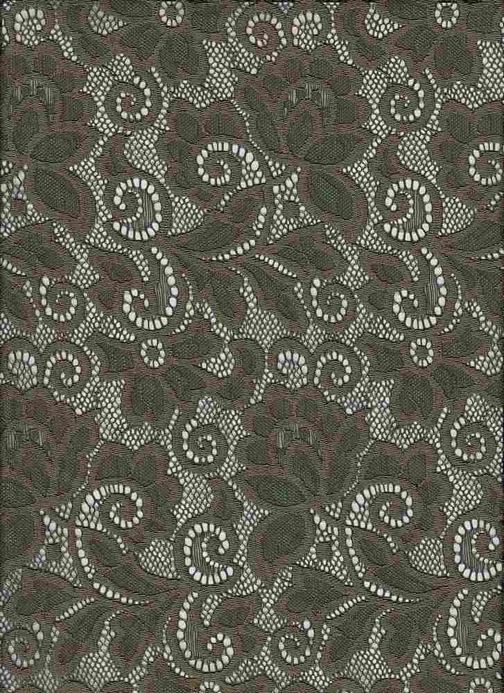 LACE-1138 / OLIVE / 90% Nylon 10% Spn Heavy Lace