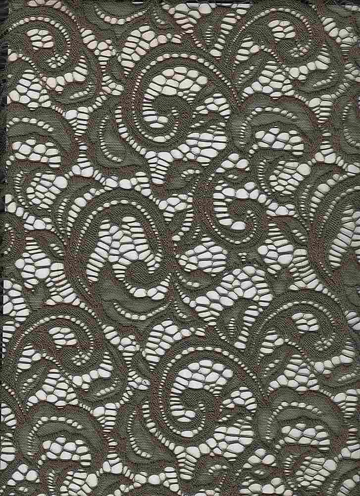 LACE-1144 / OLIVE / 90% Nylon 10% Spn