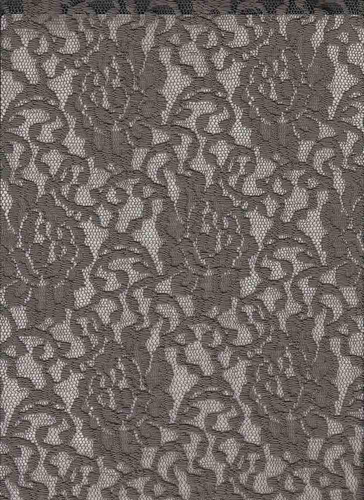 LACE-1148 / MOCHA / 95% Poly 5% Spn Floral Lace