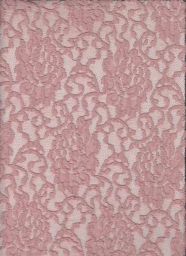 LACE-1148 / MAUVE / 95% Poly 5% Spn Floral Lace