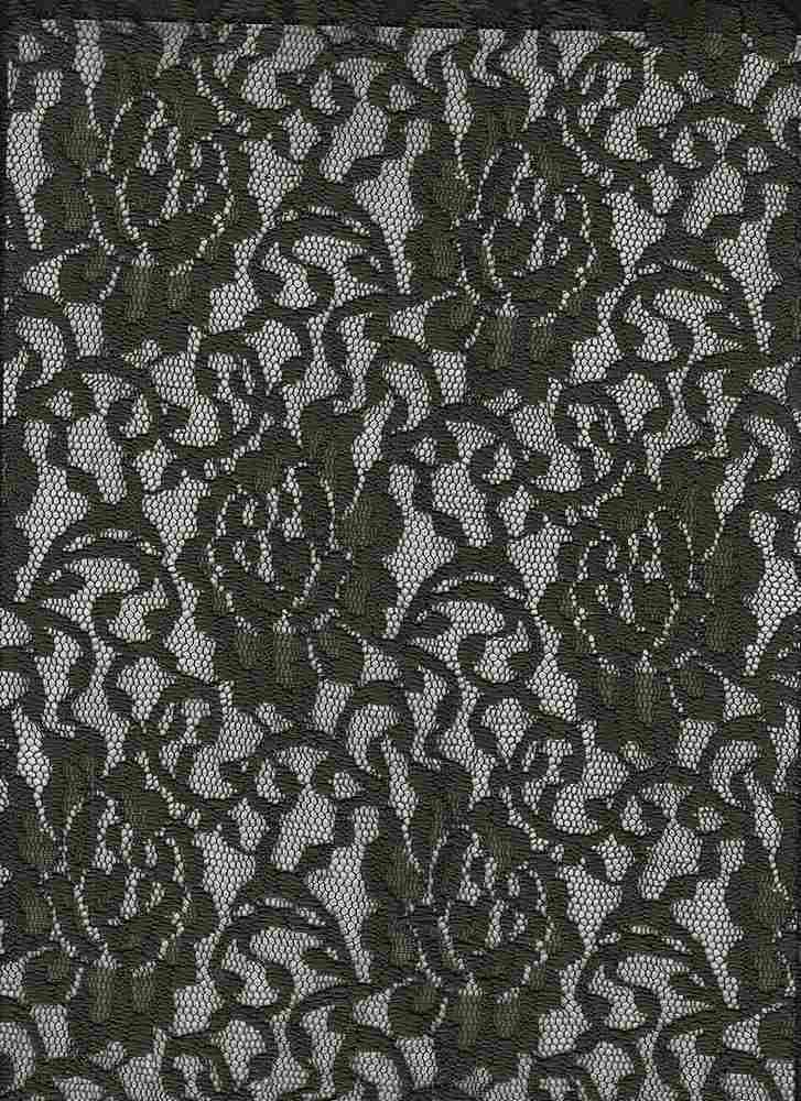 LACE-1148 / OLIVE??? / 95% Poly 5% Spn Floral Lace