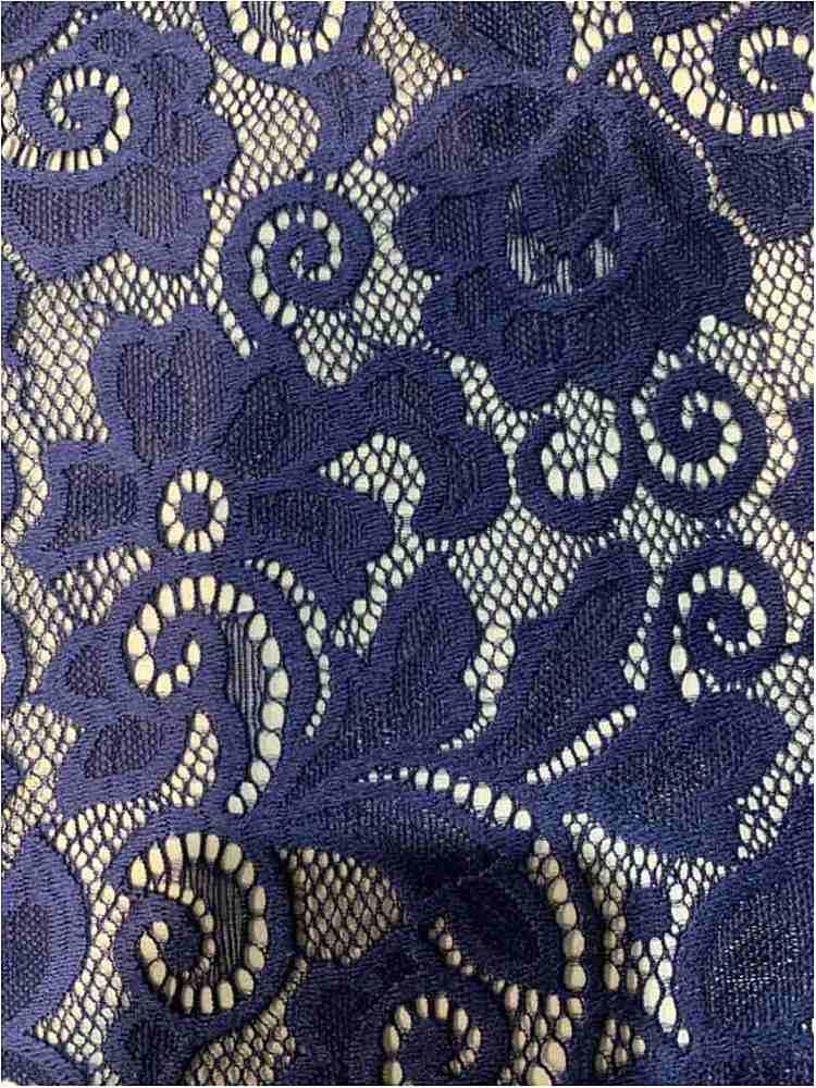 LACE-1138 / INDIGO DK / 90% Nylon 10% Spn Heavy Lace