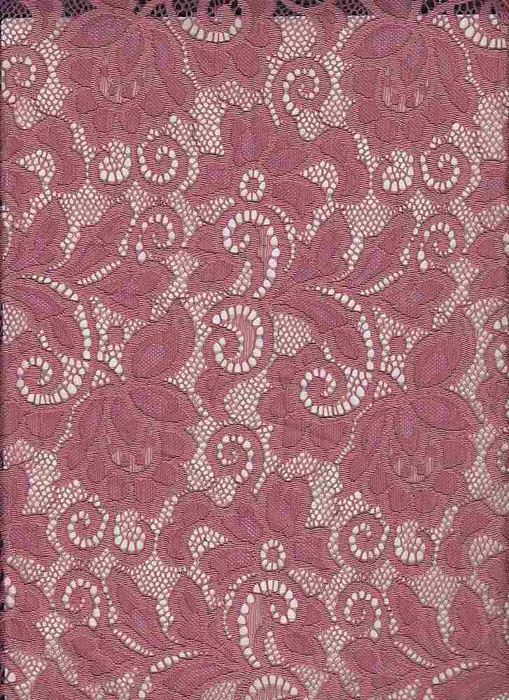 LACE-1138 / MARSALA / 90% Nylon 10% Spn Heavy Lace