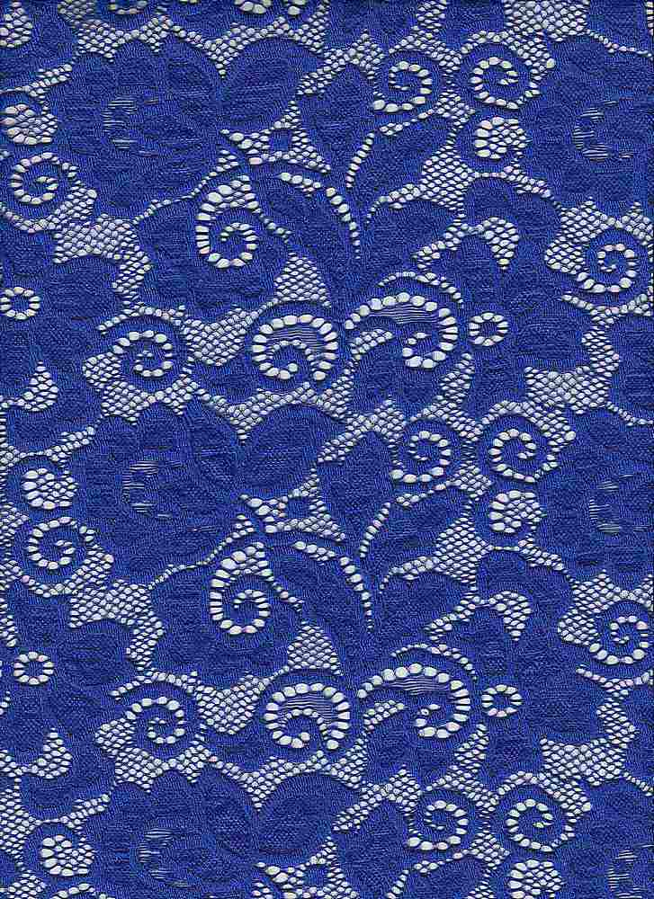 LACE-1138 / ROYAL NEON / 90% Nylon 10% Spn Heavy Lace