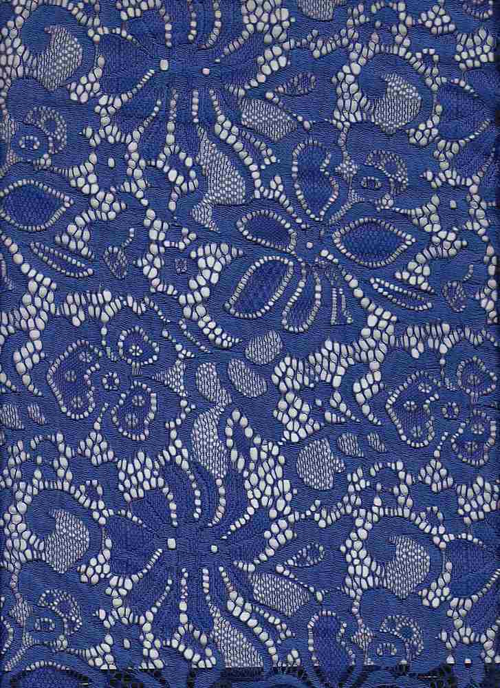 LACE-1141 / ROYAL NEON / 90% Nylon 10% Spn Jacquard Lace
