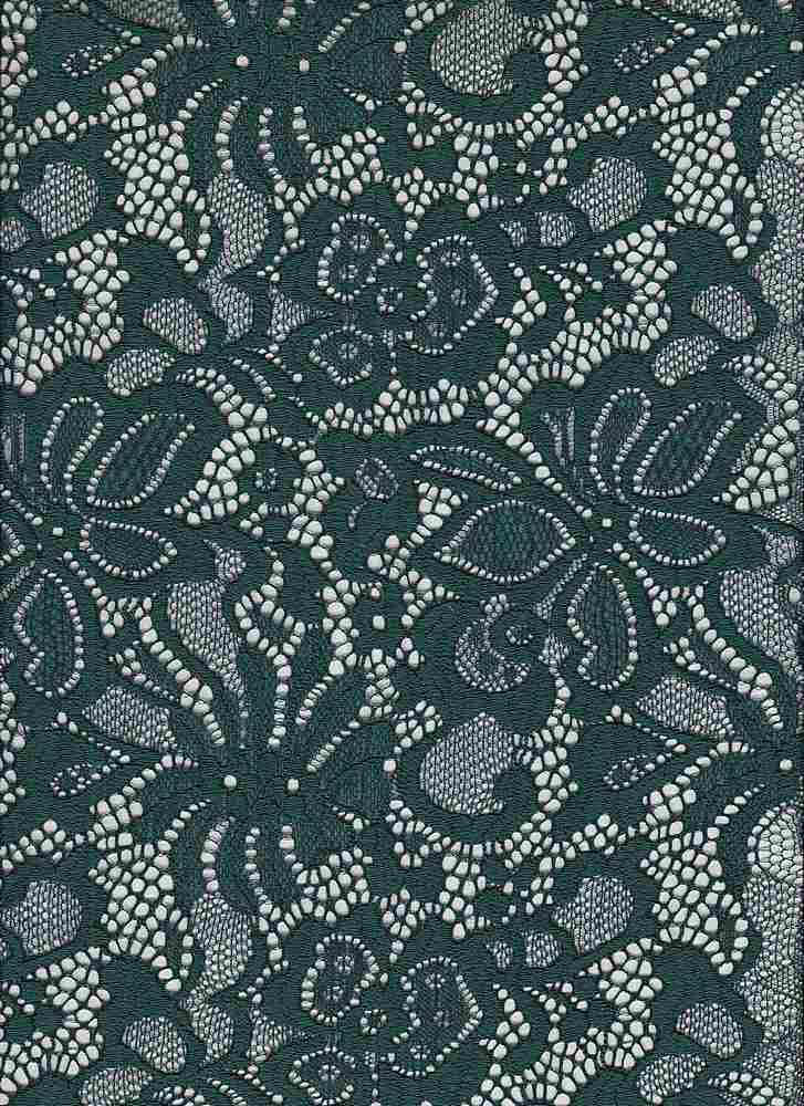 LACE-1141 / FOREST / 90% Nylon 10% Spn Jacquard Lace