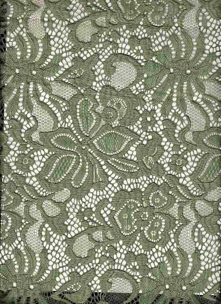 LACE-1141 / DILL / 90% Nylon 10% Spn Jacquard Lace