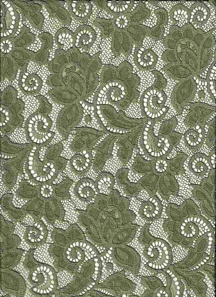 LACE-1138 / DILL / 90% Nylon 10% Spn Heavy Lace