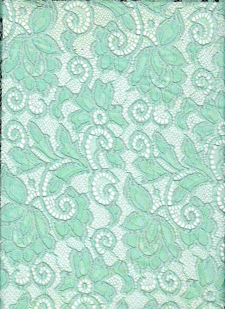 LACE-1138 / DUSTY MINT / 90% Nylon 10% Spn Heavy Lace