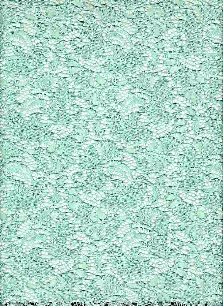 LACE-1146 / DUSTY MINT / 95% Nylon 5% Spandex