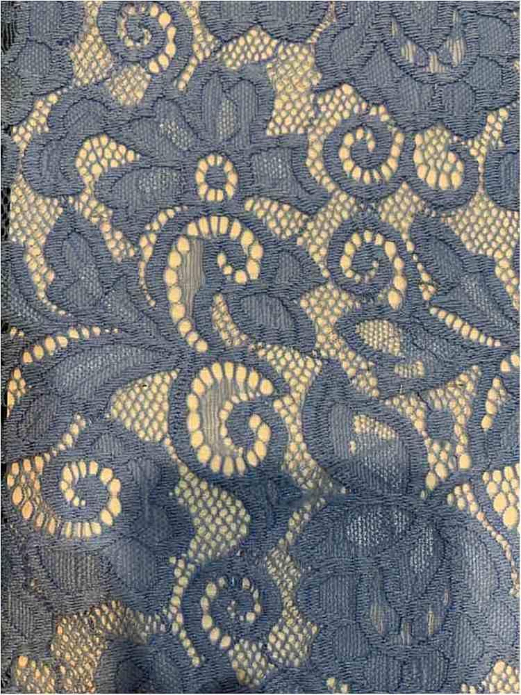 LACE-1138 / INK BLUE / 90% Nylon 10% Spn Heavy Lace