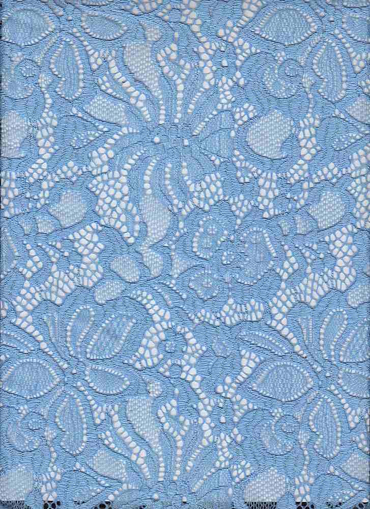 LACE-1141 / INK BLUE / 90% NYLON 10% SPANDEX JACQUARD