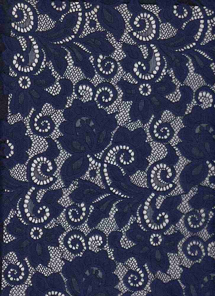 LACE-1138 / NAVY / 90% Nylon 10% Spn Heavy Lace