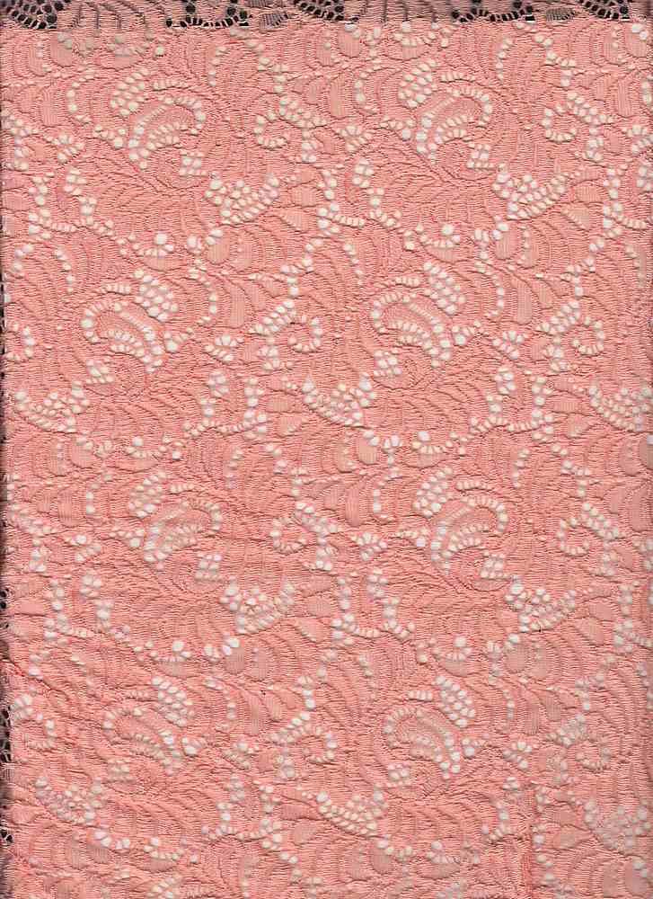 LACE-1146 / PEARL CORAL / 95% Nylon 5% Spandex