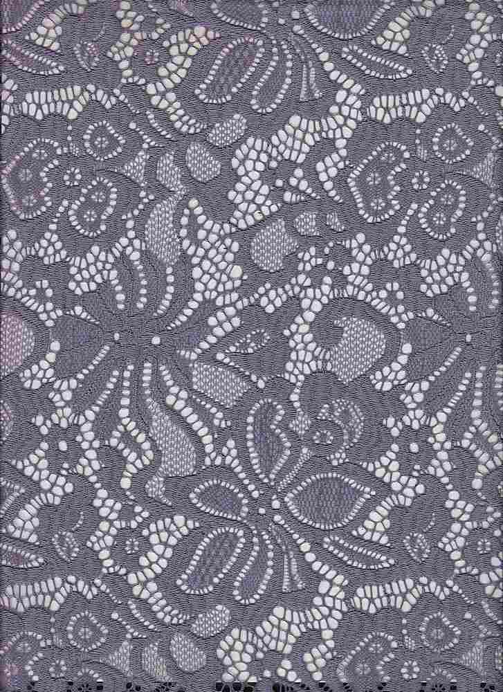 LACE-1141 / GRAPE / 90% NYLON 10% SPANDEX JACQUARD
