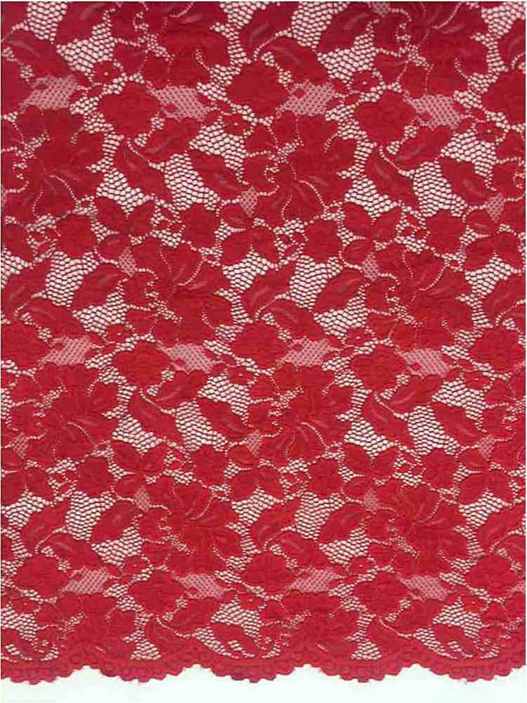 LACE-1153 / RED / 90% Nylon 10% Spn