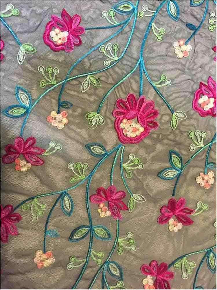 MESH-1158 / JADE / 100% Nylon Embroidered Mesh