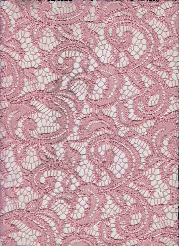 LACE-1144 / BRIDAL ROSE 15-1611 / 90% Nylon 10% Spn