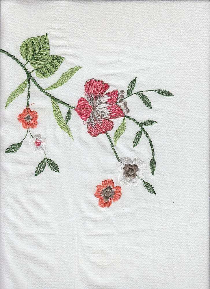 KSB-324 / IVORY / 97% Poly 3% Spn/ 100% Poly Embroidery
