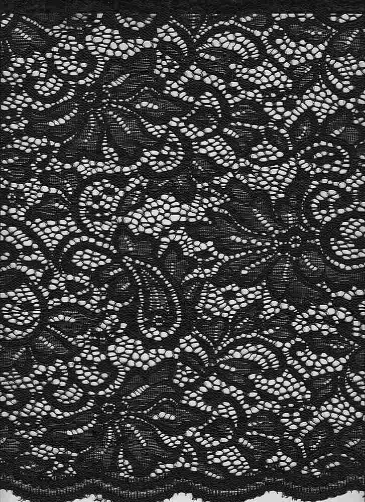 LACE-1168 / BLACK / 95% Nylon 5% Spn