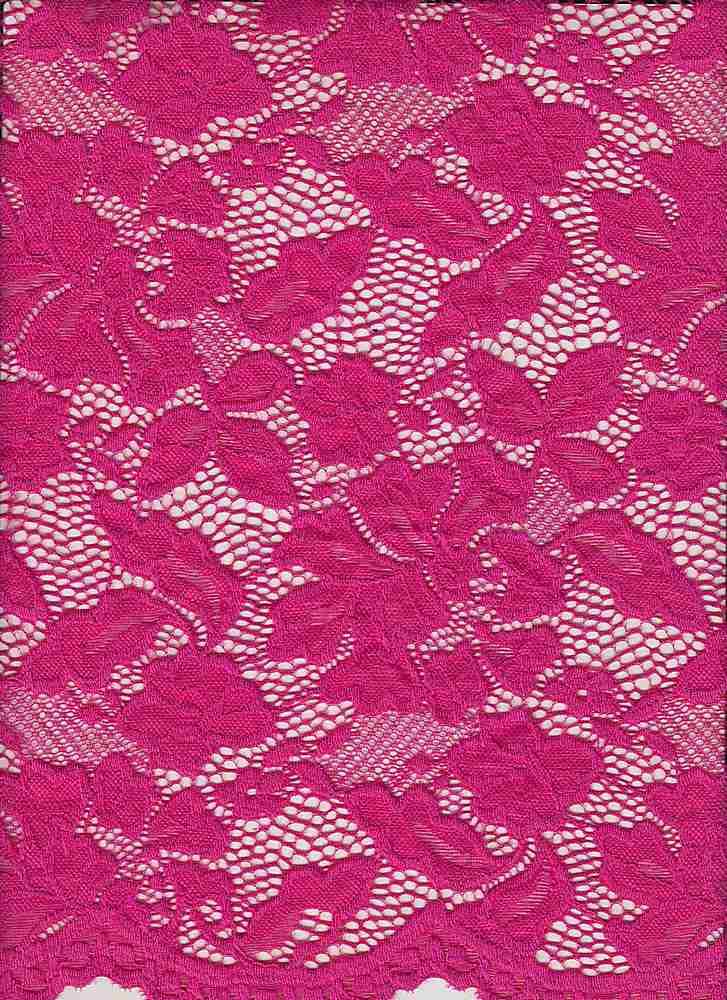 LACE-1153 / FUSCHIA / 90% Nylon 10% Spn