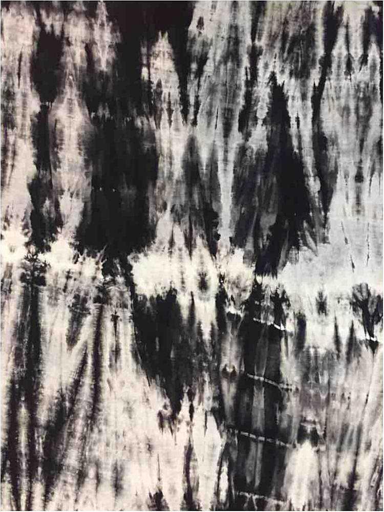 RNJ-2025 / BLACK / 95% Rayon 5% Spn Tie Dye