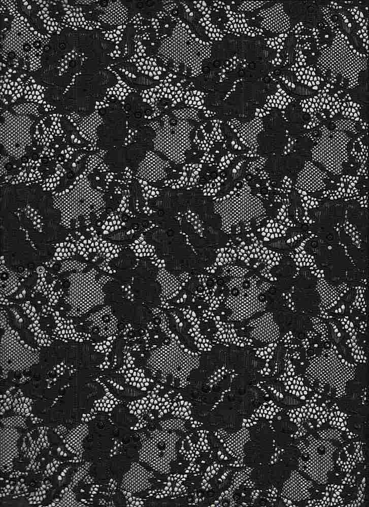 LACE-1169 / BLACK / 95% Nylon 5% Spn Sequence Lace