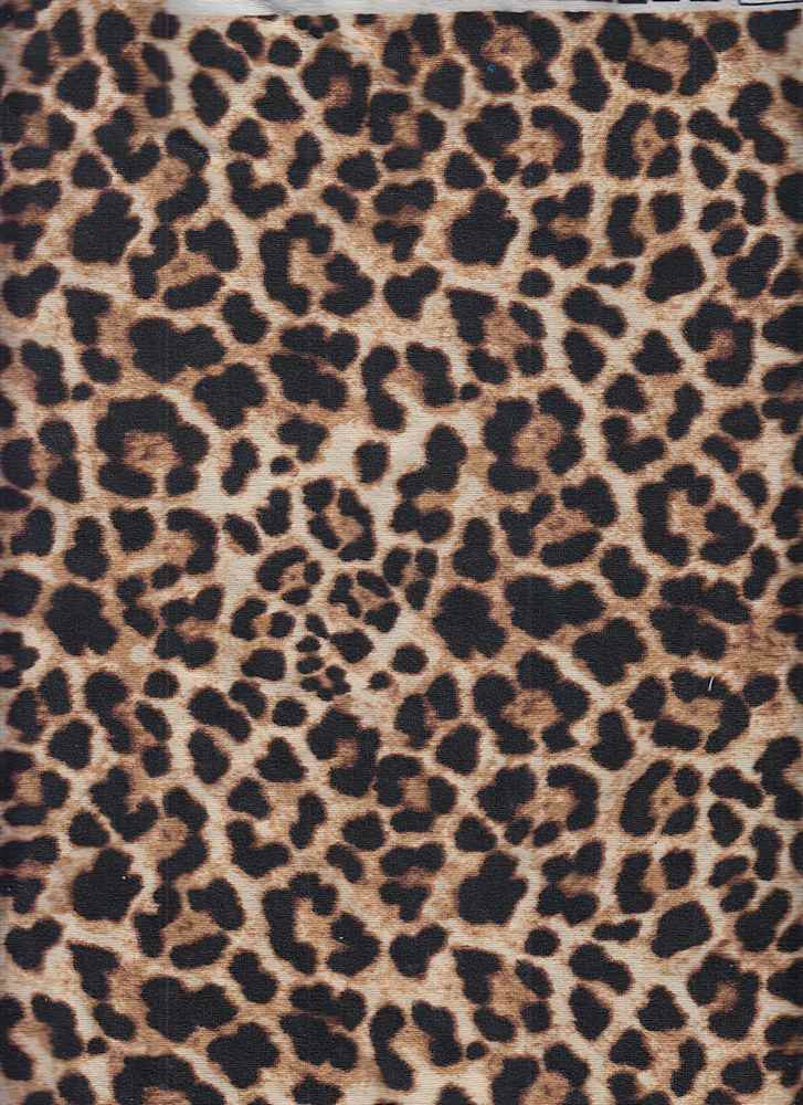 CTP-1015 / TAUPE / 95% Poly 5% Spandex Leopard Print Hacchi Brushed