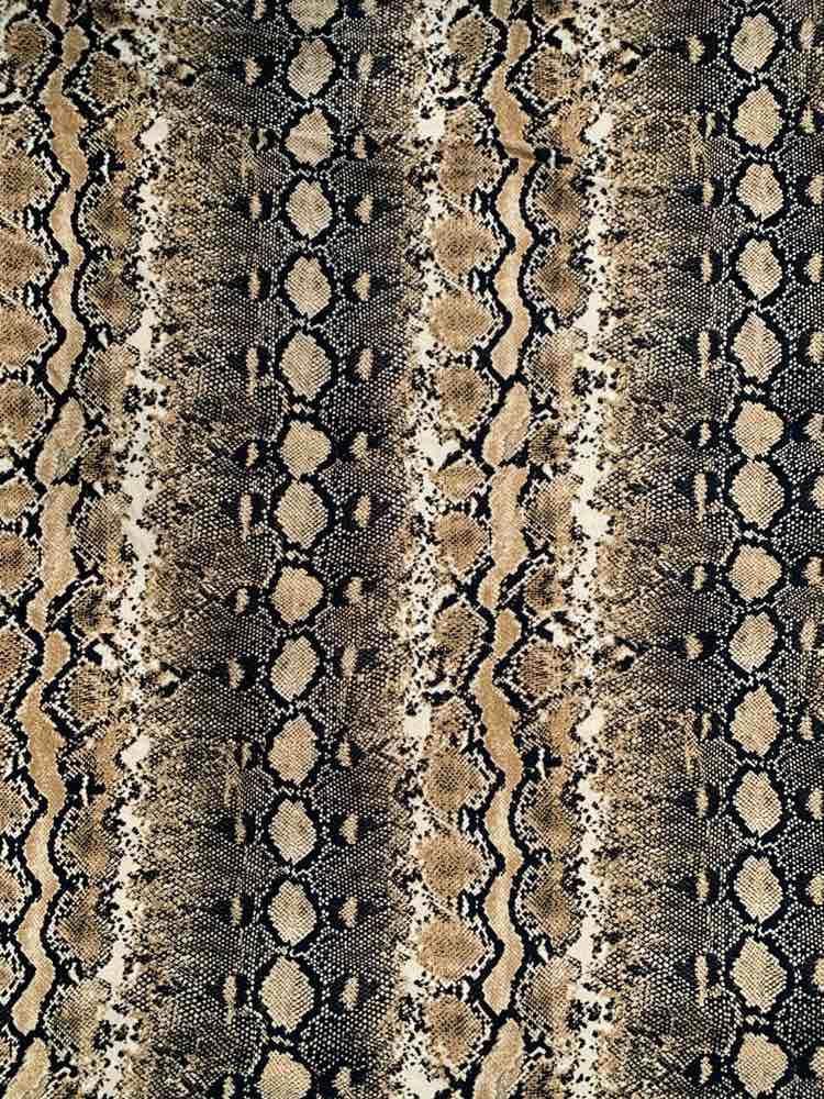 CTP-1021 DTY / TAUPE / 95% Poly 5% Spn Snake Design