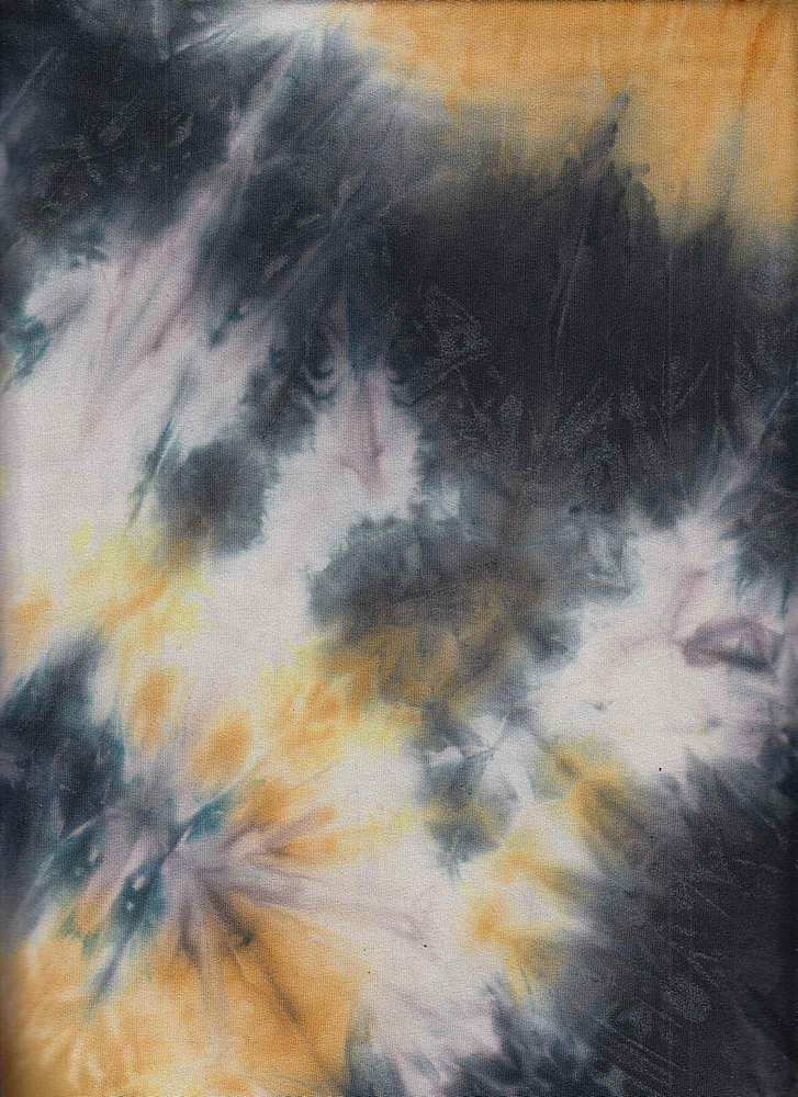 CTP-1025 / BLACK/MUSTARD / 95% Poly 5% Spn DTY Brushed Tie Dye