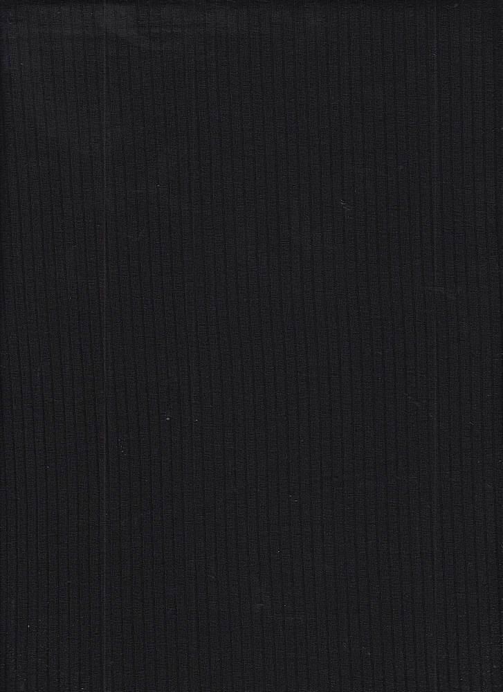 RIB-052 / BLACK / 95% Viscose 5% Spn 5x2 Rib