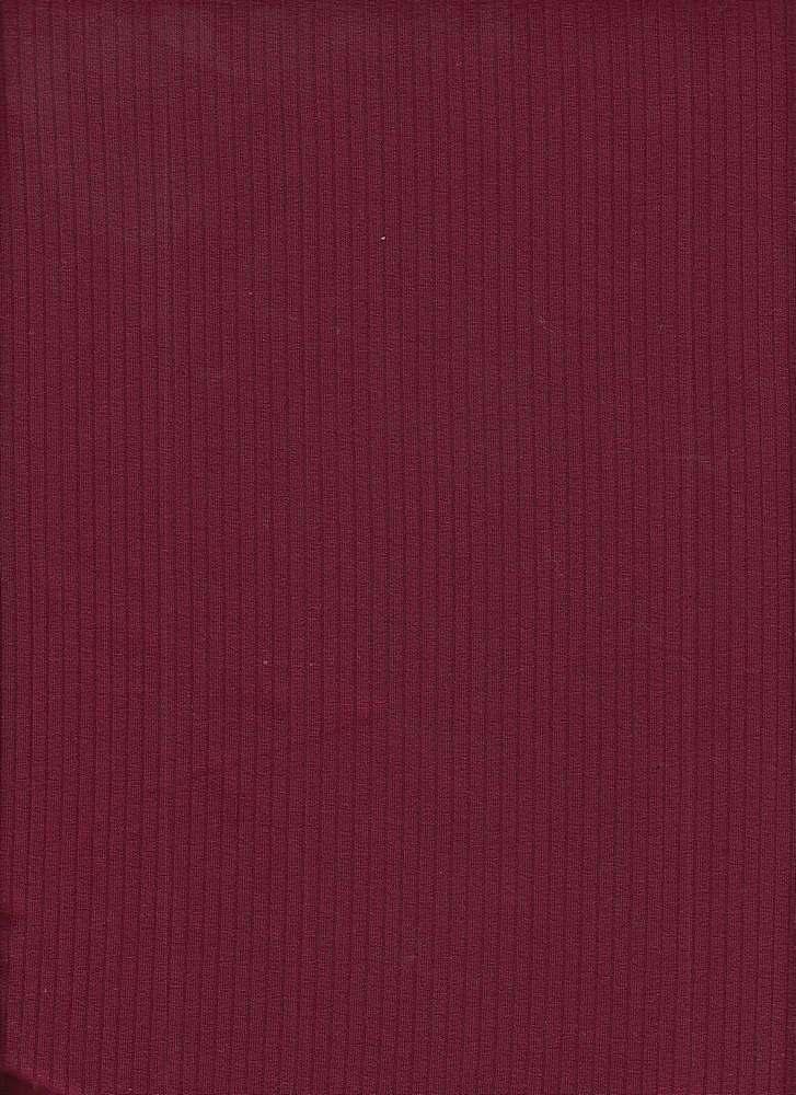 RIB-052 / GARNET / 95% Viscose 5% Spn 5x2 Rib
